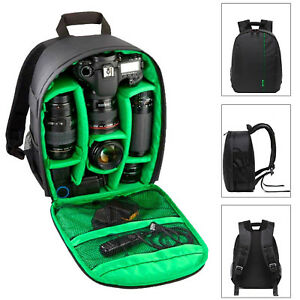 Camera-Backpack-Bag-Waterproof-Lens-Case-Rucksack-For-DSLR-Canon-EOS-Nikon-Green