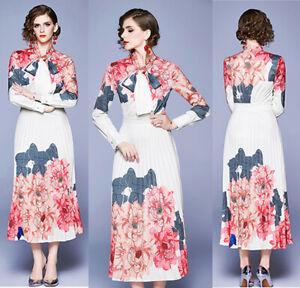 Women-Long-Sleeve-Cocktail-Party-Evening-Long-Dress-Floral-Elegant-Maxi-Dress