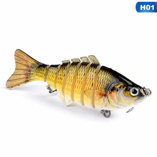 7 Segment Swimbait Lures Fischköder Fischköder Crankbait Hooks 10cm