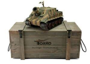 Collection Ici Torro 1/16 Rc Sturmtiger Rocket Tank Rtr Metal Pro Edition Wooden Crate-afficher Le Titre D'origine MatéRiaux De Haute Qualité