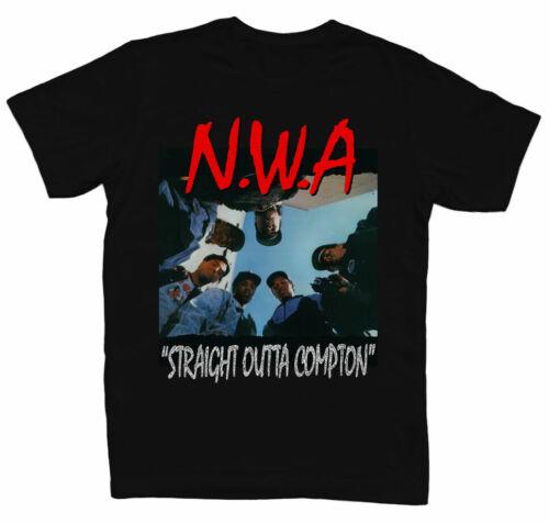 Limited NWA STRAIGHT OUTTA COMPTON Mens Black Rap T-SHIRT