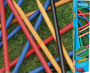 Giant Garden Pick Up Sticks Wooden Outdoor Traditional Family Game