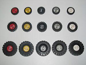Lego ® Lot x4 Pneus pour Roue Voiture Camion Car Truck Tires Choose Model NEW