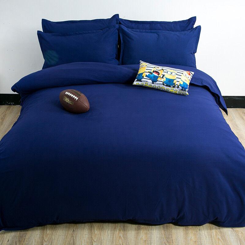 3D Navy blu Boy 800 Bed Pillowcases Quilt Duvet Cover Set Single Queen King CA