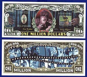 FAKE 1-ZOMBIE HORROR DOLLAR BILL -Novelty MONEY Collectible ITEM  G