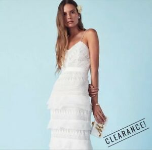 e235d6ab6d48 SALE! Self Portrait Penelope White Lace Gown Size 2 New With Tags | eBay