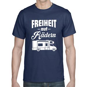 FREIHEIT-AUF-RADERN-Wohnmobil-Camper-Camping-Urlaub-Geschenk-Sprueche-Fun-T-Shirt