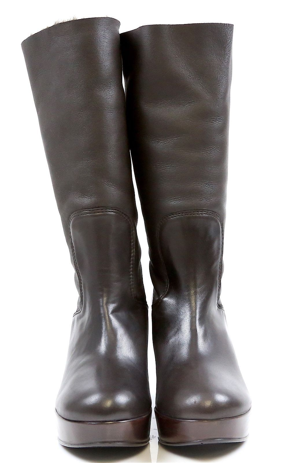 New! Stuart Weitzman 9370 Snowy Cola Nappa Brown Wedge Boots Size Size Boots 10 B . db90af