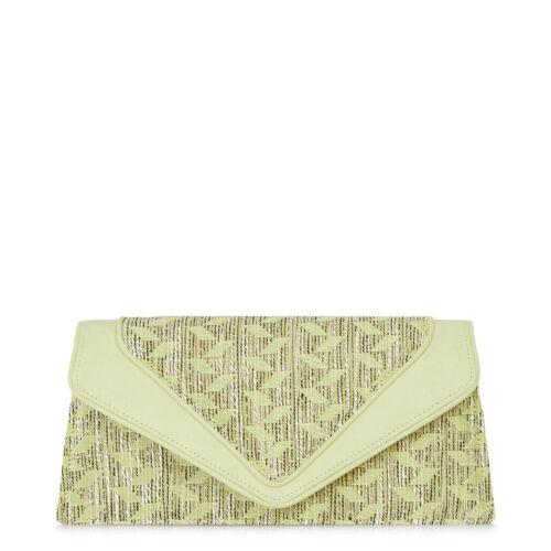 Textured New Fabric Clutch Shoo Lemon Pink Bag Manila Polly Ruby nxFqrFwWAX
