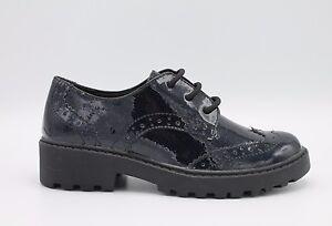 Dettagli su Geox scarpe bimbaragazzadonna glitter navy derby inglesina linea Casey J6420K