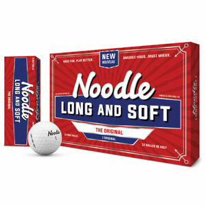 Taylormade Noodle Long and Soft White Golf Balls - 15 Ball Packs