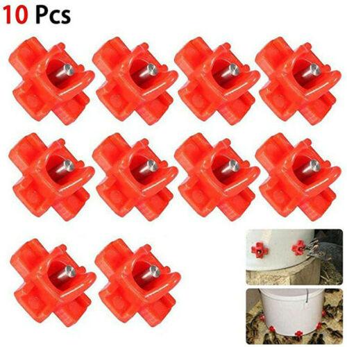 10pcs Poultry Water Drinking Cups Waterer Chicken Hen Plastic Automatic Drinker