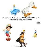 51 Children Stories on 6 CD SET Classic Children's Story Kids books Audio