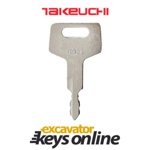 Takeuchi H806 Excavator Key Takeuchi Excavator Grader Takeuchi Parts Set of 5