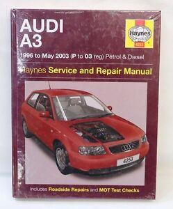 new haynes workshop manual 4253 audi a3 1998 to 2003 p 03 reg petrol rh ebay co uk 1998 Audi RS Audi 80
