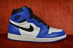 WORN-TWICE-Nike-Air-Jordan-1-Retro-High-OG-Game-Royal-Blue-555088-403-Size-8