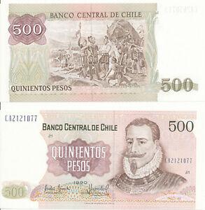 Chile-500-Pesos-1990-UNC-Pick-153b