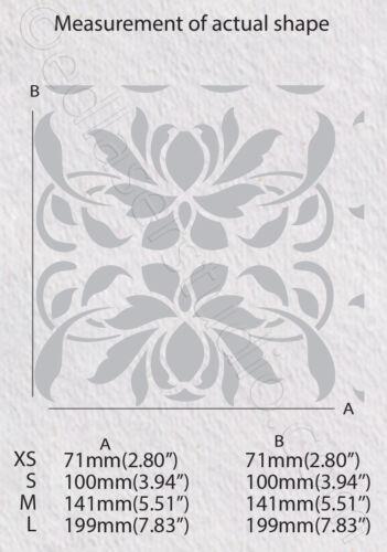 Tile Stencil 100mm Moroccan Template Masks Card making Paint Home Decor Art TL34