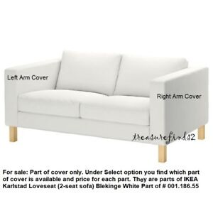 Terrific Details About Part Of Ikea Karlstad Loveseat Cover Blekinge White Slipcover Part Of 00118655 Short Links Chair Design For Home Short Linksinfo