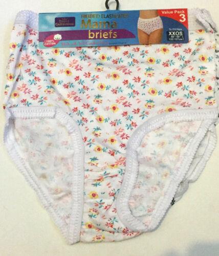 6-12 PAIR 100/% COTTON LADIES BRIEFS-MAMA BRIFS-WOMENS UNDERWEAR-FULL BRIEFS