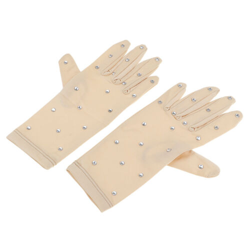 Thermal Figure Skating Gloves with Rhinestones Decoration and Replacement
