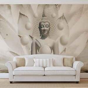 WALL MURAL PHOTO WALLPAPER XXL Buddha Zen Flowers 3179WS eBay