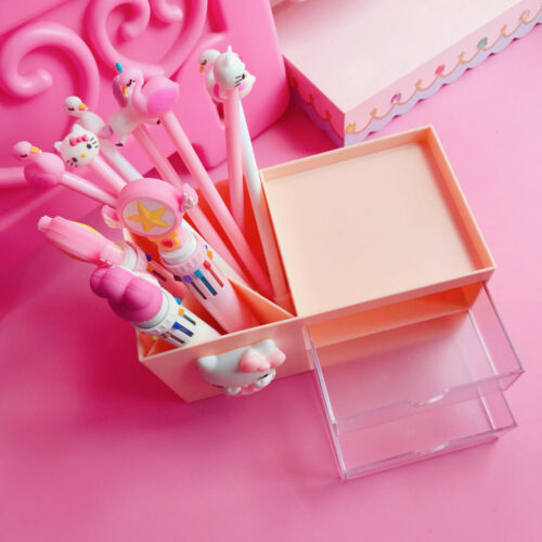 New Lovely Pink Color Hello Kitty Storage Box Two Drawers Storage Box Carton