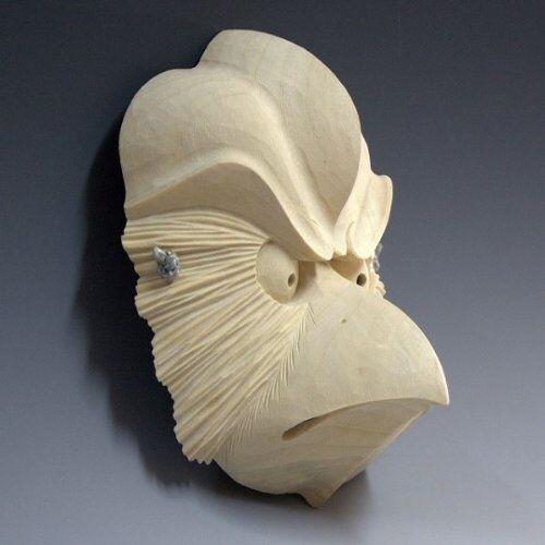 Japanese Noh Mask The Karasu Tengu Ver Wooden Mask Hand Made