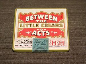VINTAGE-TOBACCO-3-1-4-034-X-3-034-LORILLARD-BETWEEN-THE-ACTS-LITTLE-CIGARS-TIN-EMPTY