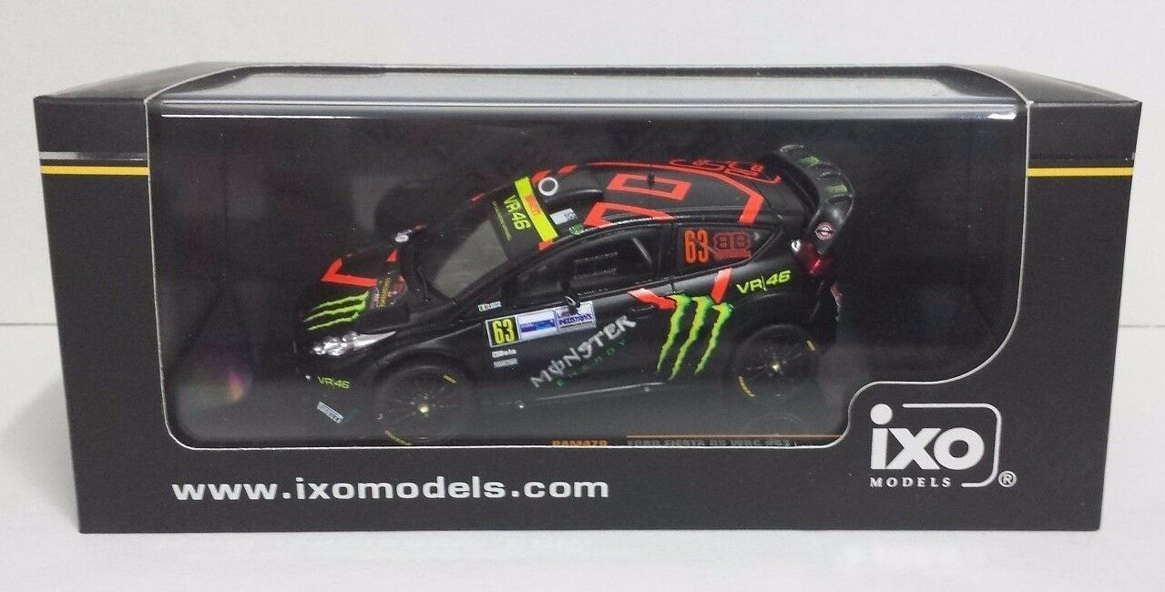 IXO 1/43 AUTO FORD FIESTA RS WRC  63 FRATELLI BRIVIO MONZA RALLY SHOW 2011 NEW