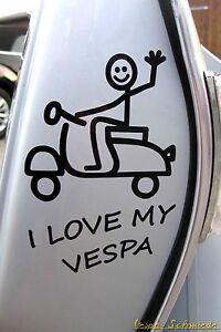 Details Zu Aufkleber I Love My Vespa Schwarz Auto Kfz Sticker V50 Pk Px Sprint Rally
