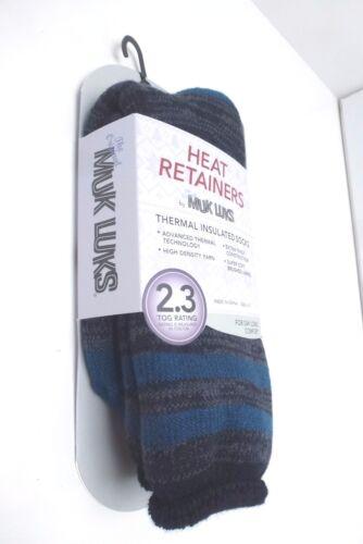 10-13 New MUK LUKS Women/'s Thermal Insulate Warm Socks*Heat Retainers Size 6-11