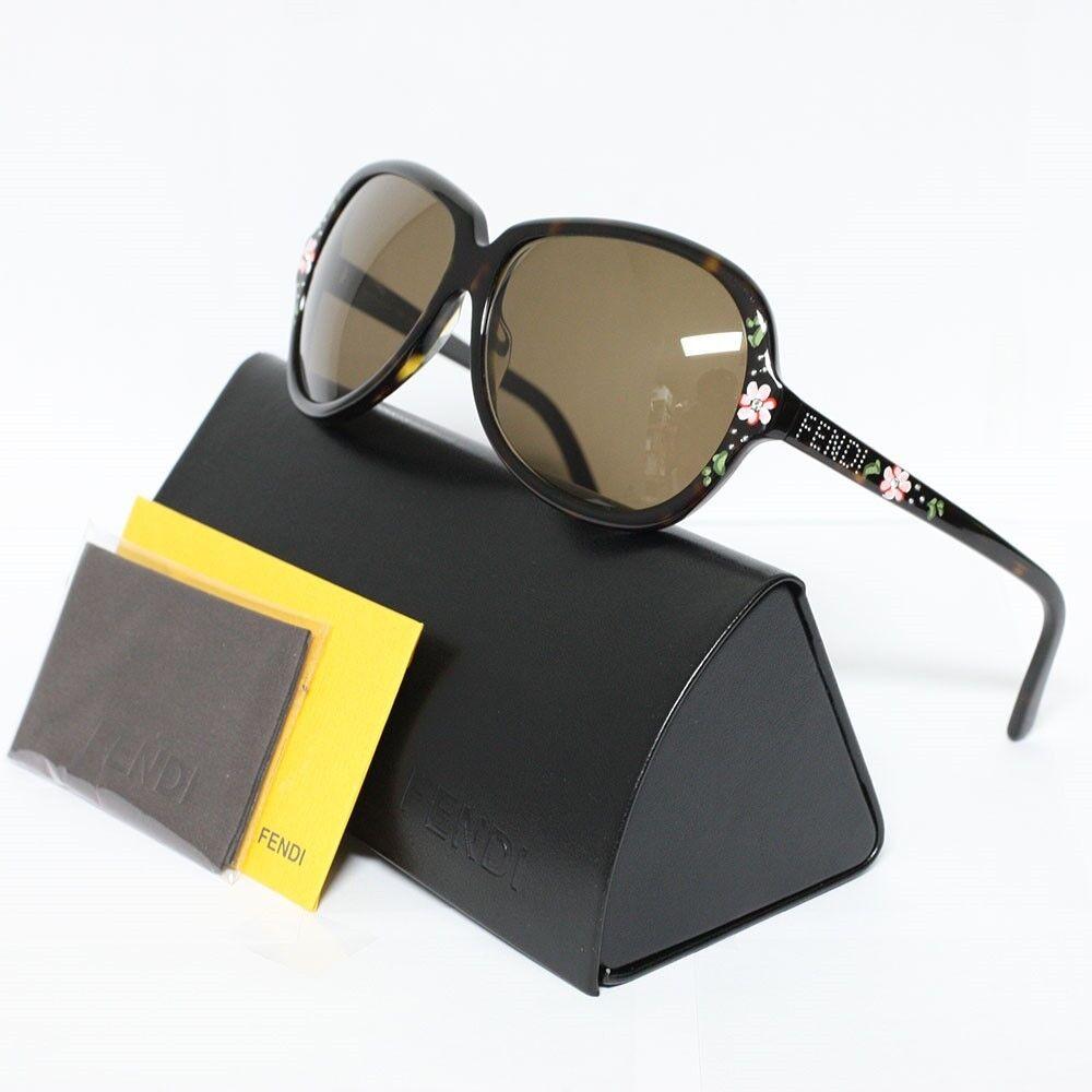 FENDI Brown Sunglasses 374R 215 HAVANA Authentic with Black Case
