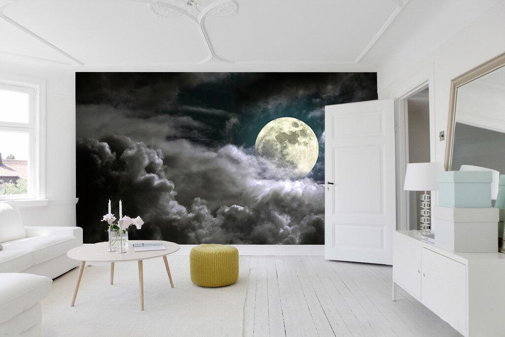 3D Schwarze Wolke Mond 821 Tapete Wandgemälde Tapete Tapeten Bild Familie DE