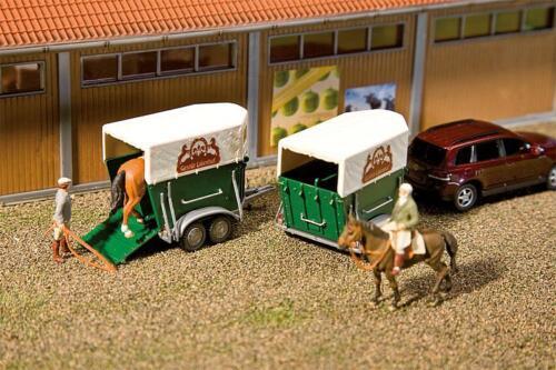 Faller h0 130545 2 cavalli rimorchio NUOVO