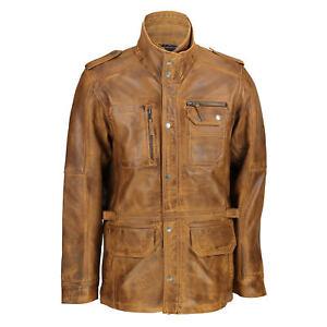 pelle Giacca vintage marrone casual marrone sportiva chiaro in uomo chiaro da RU0UXqWF
