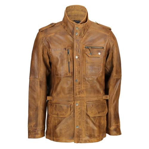 Veste marron homme pour cuir clair véritable décontractée en de sport foncé beige élégante HxrqRpH4