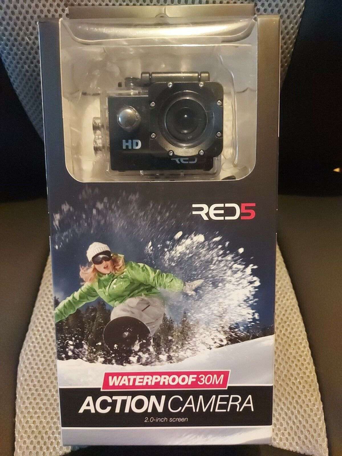 •RED 5 Action Camera • Waterproof 30m • HD 1080p • 2.0-inch Screen • Brand New•