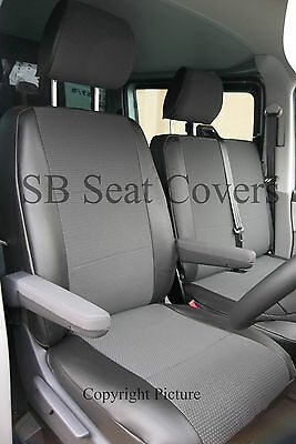 VW TRANSPORTER T4 VAN SEAT COVERS LEATHERETTE TRIM MADE TO MEASURE