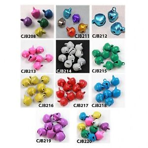 60-JINGLE-BELL-CHARMS-8mm-JEWELLERY-CRAFTS-PENDANTS-CHRISTMAS-BELLS-DECORATION