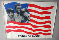 Vintage Stars Of Hope Poster Children Small People World 1970 Us Flag Peace 70s