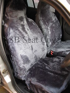 NISSAN-SERENA-CAR-SEAT-COVERS-GREY-FAKE-FUR-FULL-SET