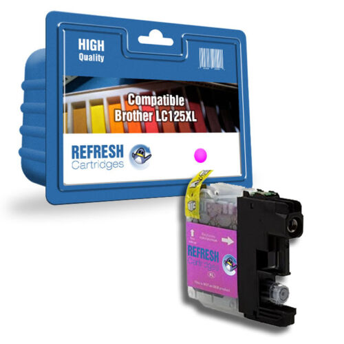 REFRESH CARTRIDGES MAGENTA LC125XL INK COMPATIBLE WITH BROTHER PRINTERS