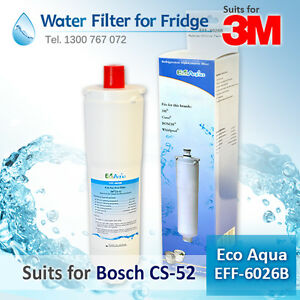 ECO AQUA EFF-6026B GENERIC REPLACEMEN Bosch CS-52 Internal Fridge Filter 5586605