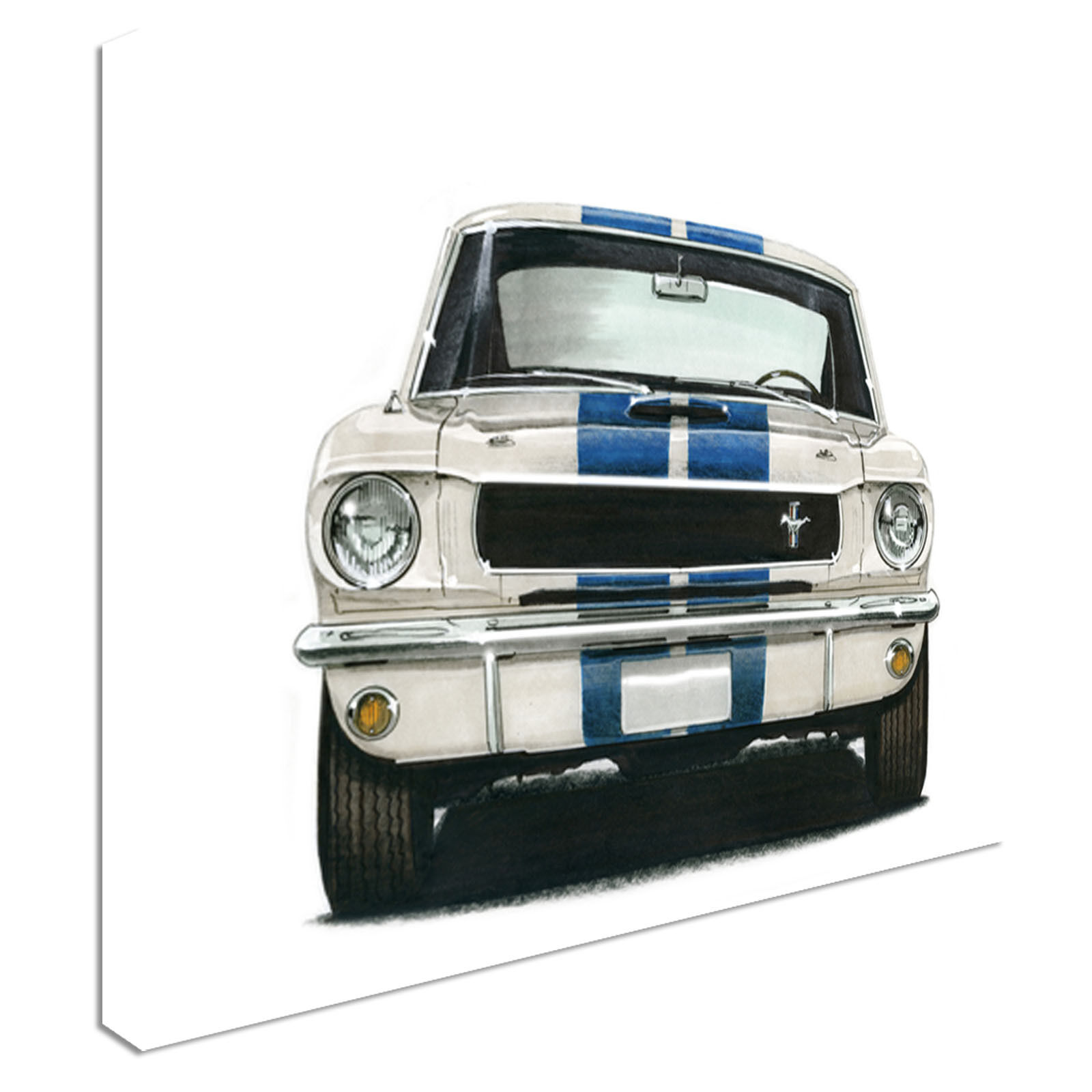 Vintage 1965 GT350 Ford Mustang Canvas Art Cheap Wall Print Home Interior