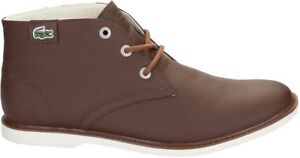 low priced 1429e b8981 Details about Lacoste Boys Leather Boots Sherbrook Hi Sb Brown Gr.32