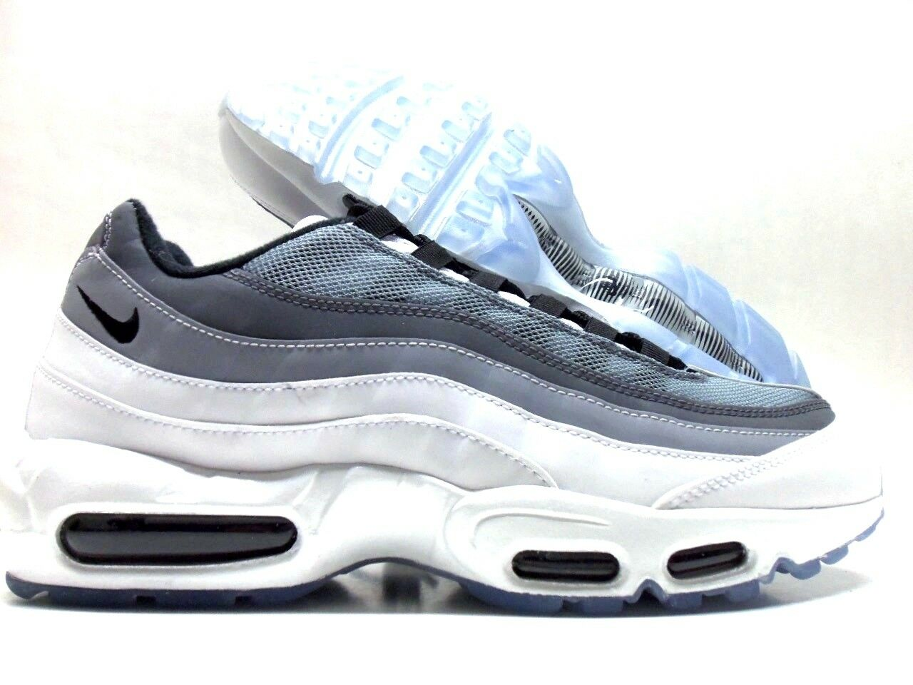 NIKE AIR MAX 95 ID WHITE/ANTHRACITE-COOL GREY-BLACK SIZE MEN'S 9.5 [818592-996]