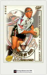 2002-Select-NRL-Challenge-Card-Club-Player-Of-year-CP6-Geoff-Toovey-Manly
