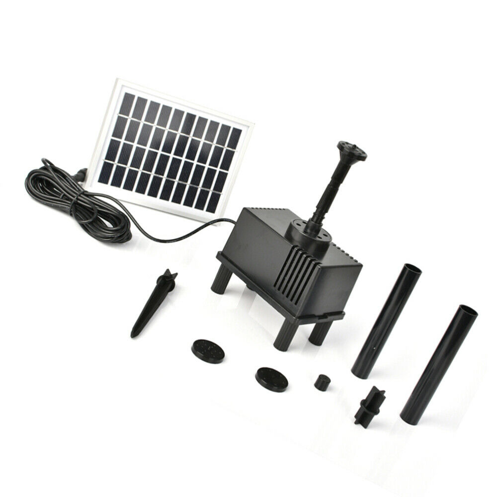 1.8 W Solar Water Pump Standing Floating Submersible Water Fountain for Pond Poo