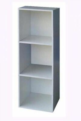 Libreria cubo 3 colore bianco cm 31x29 5x91h mobile giorno for Arredo ufficio bianco